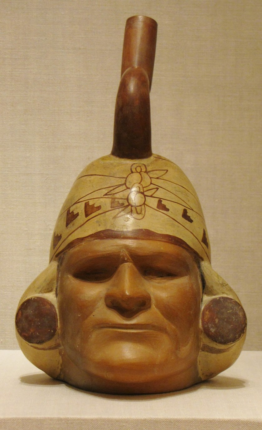 Portrait Vessel of a Ruler, ceramic and pigment, 100 BCE/500 CE, Moche; North coast, Peru
