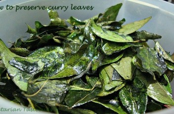 Preserving curry leaves