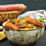 Gajar Methi ki Sabzi (Carrot & Fenugreek Leaves Sabzi/Dry Vegetable)