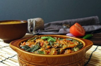 Bhindi Masala recipe by www.vegetariantastebuds.com