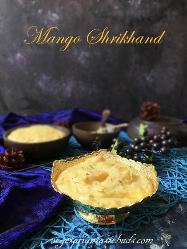 Mango Shrikhand | Amrakhand
