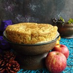 Eggless Wheat Apple Cake