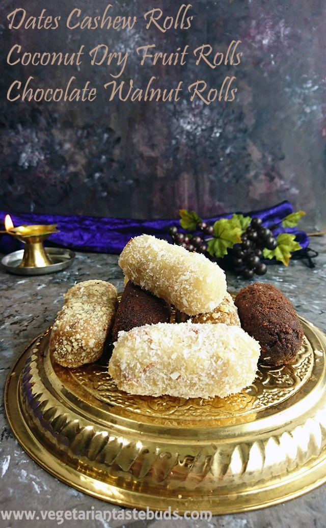 3 Easy and Quick Dry Fruit Sweets – Diwali Special + Blog Anniversary