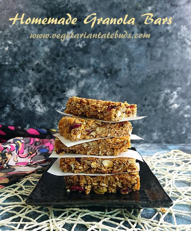 Homemade Granola Bars   easy no bake granola bars recipe