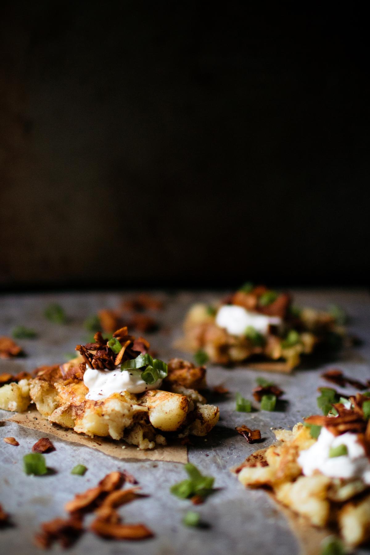 Vegetarian Baked Potato Waffles With Coconut Bacon