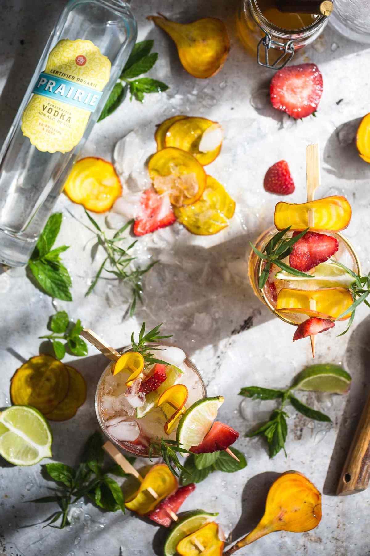 Beet Strawberry & Tarragon Vodka Smash Recipe