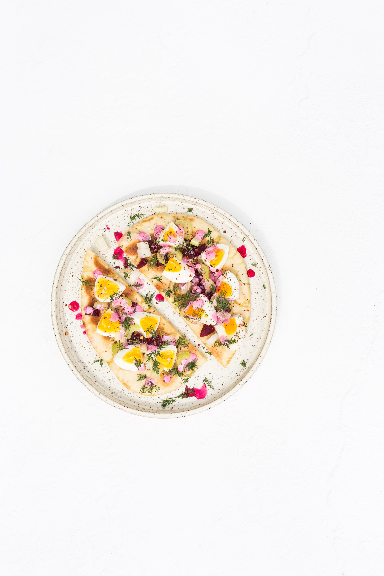 Egg Salad Recipe with Pink Mayo and Pickled Beets for One