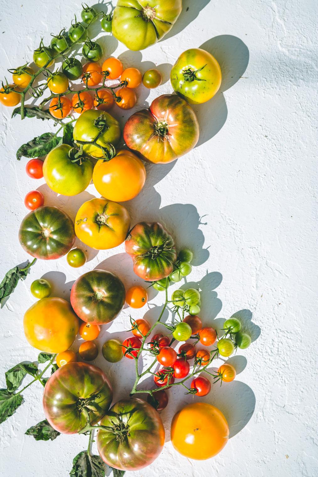Heirloom Tomato Salad with Sweet Lemon Dressing