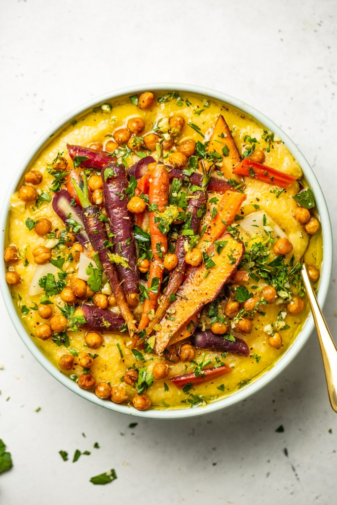 Roasted Veggies with Citrus Gremolata and Polenta