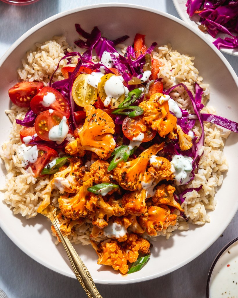 Buffalo Cauliflower Bowl