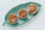 muffins on a leaf tray