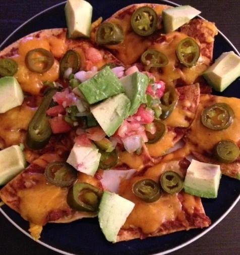 plate of healthy nachos