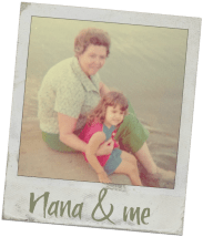 Nana & me - Nana's Molasses Cookies Recipe - https://www.vegetarianzen.com