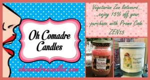 Oh Comadre Candles 15% off - https://www.vegetarianzen.com