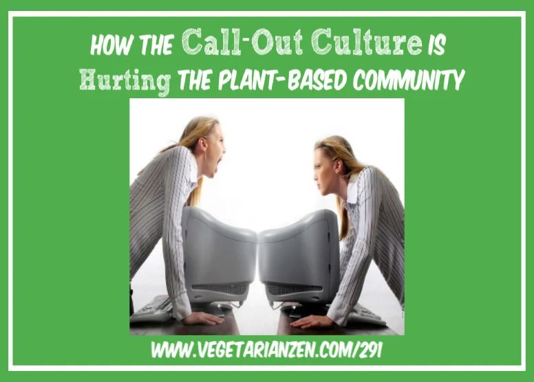 vegetarian zen podcast episode 291 - how the call-out culture is hurting the plant-based community