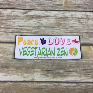 Peace Love Vegetarian Zen magnet