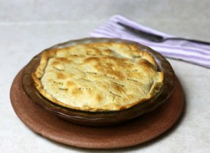 pot pie with spatula