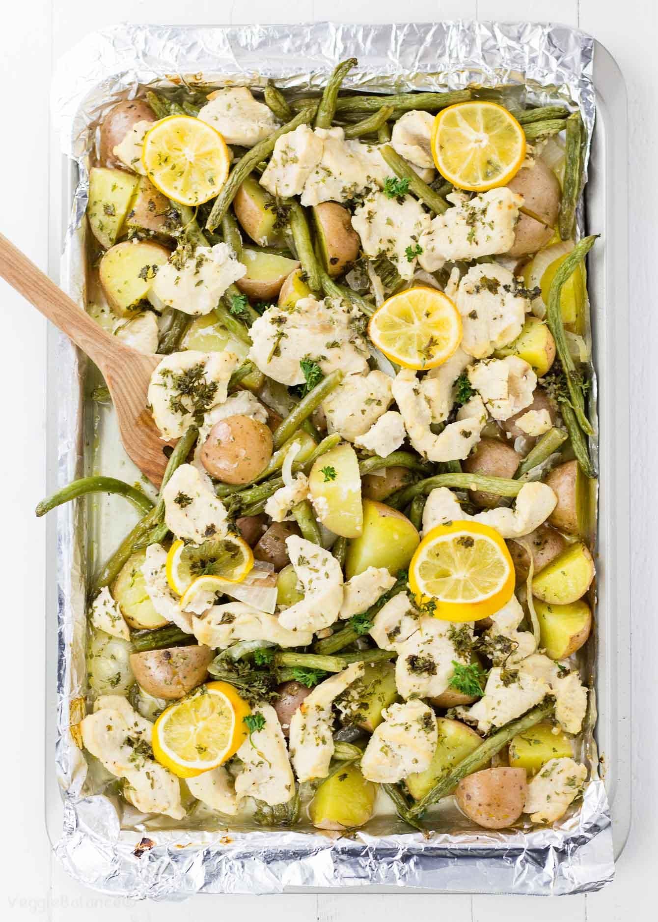Lemon Butter Chicken Sheet Pan Dinner