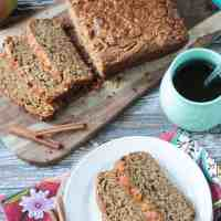 Apple Cinnamon Bread (Dairy Free, Oil Free)