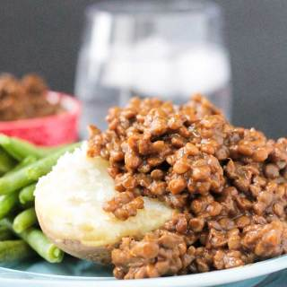 Sweet and Smoky BBQ Lentils