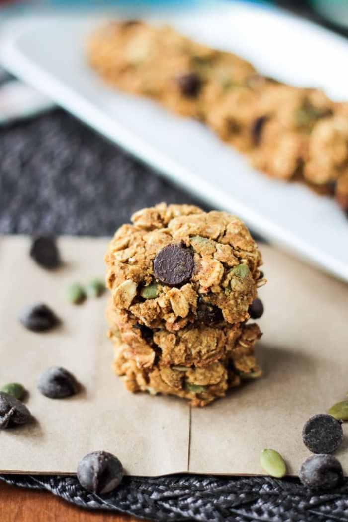Crunchy Gluten Free Pumpkin Chocolate Chip Cookies