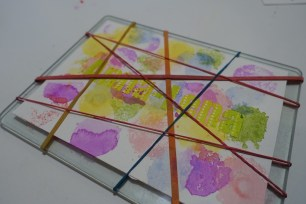 Rubber band watercolor