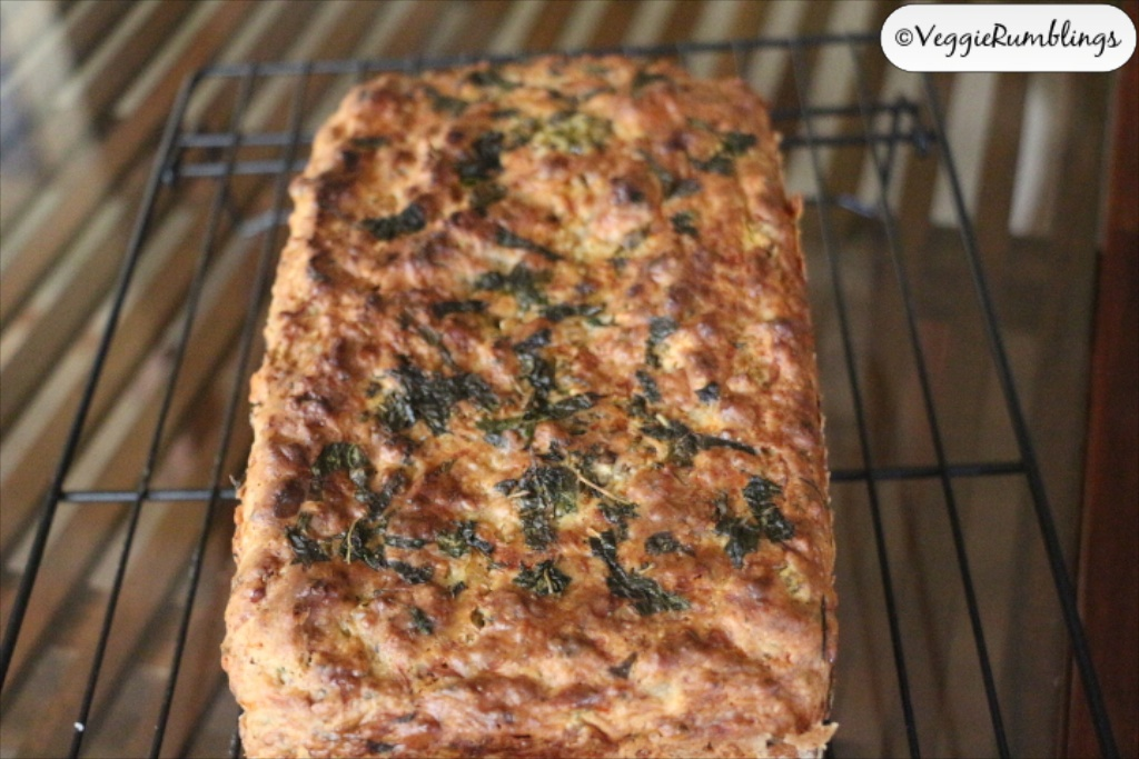 Fresh herbs, Cheese and Jalapeno bread - Eggless, No-Knead and Super Delicious!
