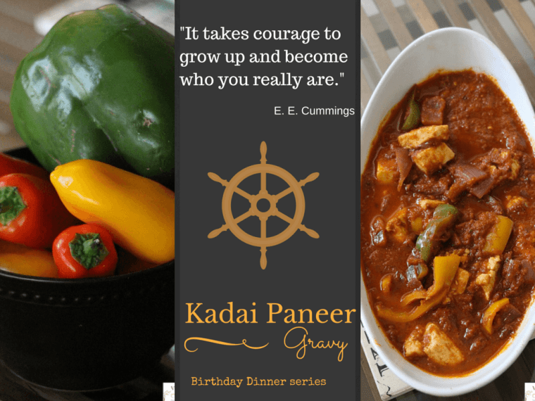 Kadai Paneer - Indian cottage cheese in tangy, spicy tomato gravy