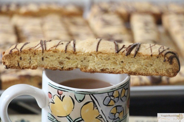 Lemon Pistachio Biscotti With dark chocolate drizzle