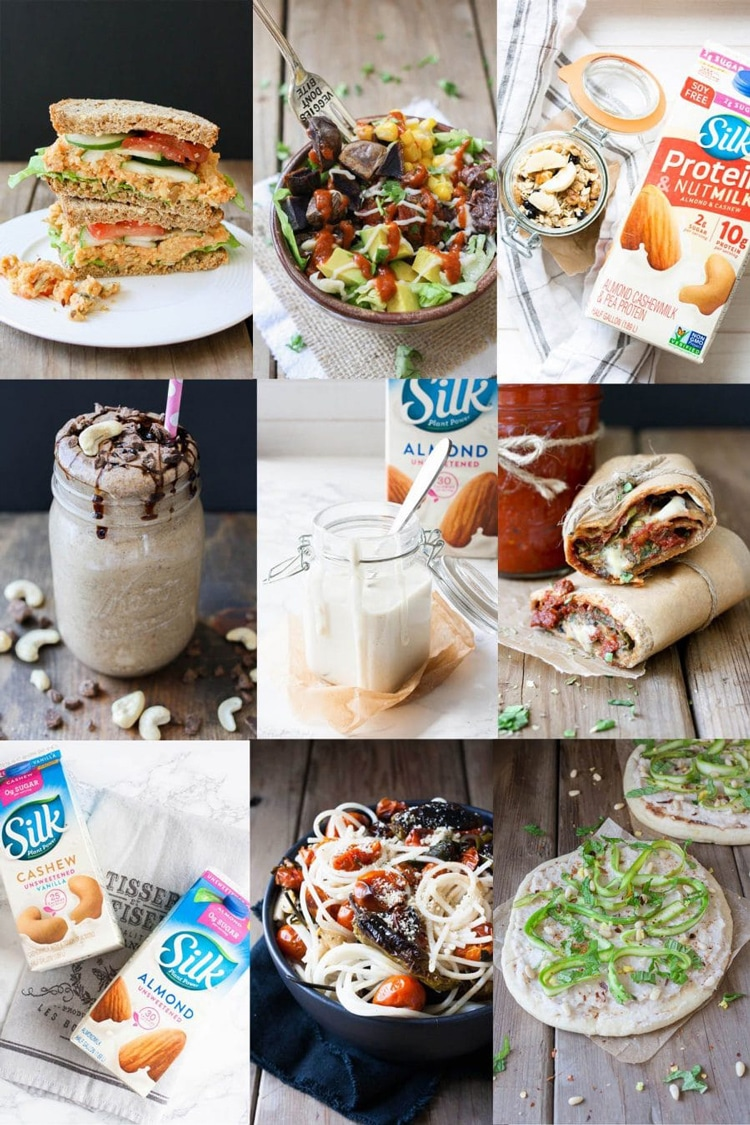 A collage of a 7 day vegan meal plan