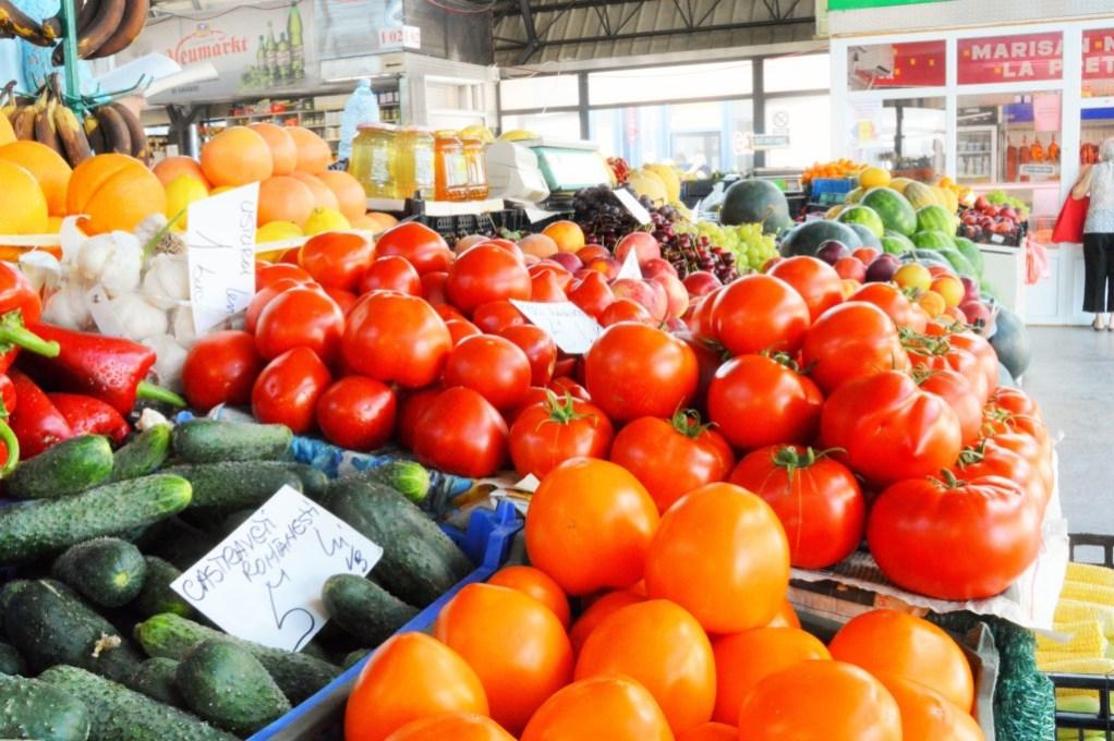 Farmers Market in Bucharest, Romania