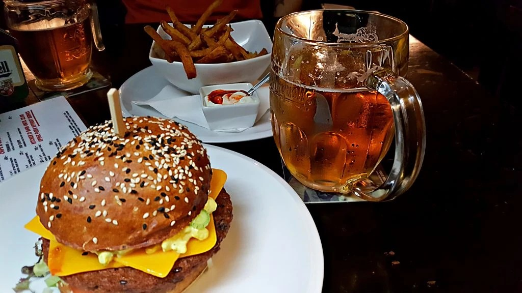 best vegan burger in Prague