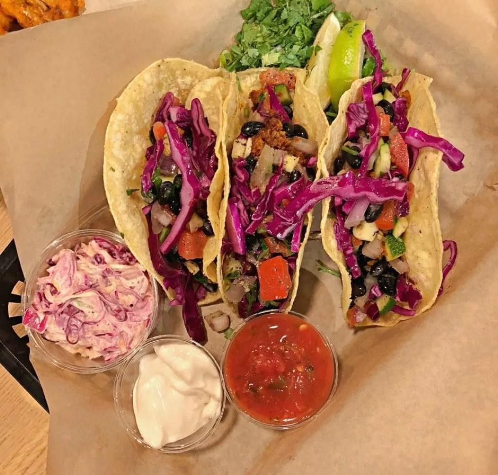 Vegan Tacos at J. Shelbys in Minneapolis