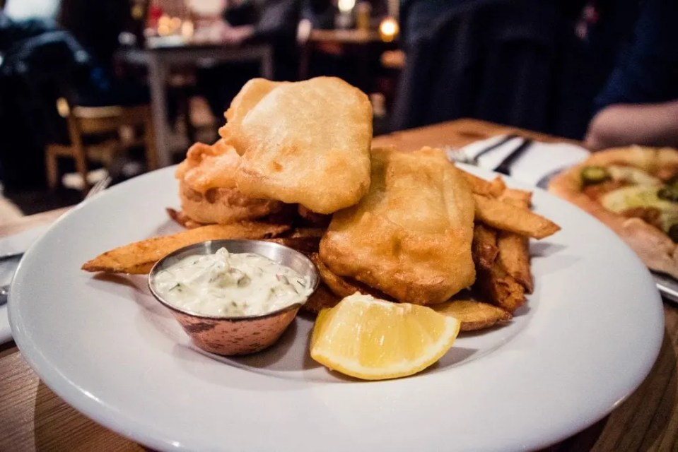 Vegan Fish n Chips from Mono in Glasgow