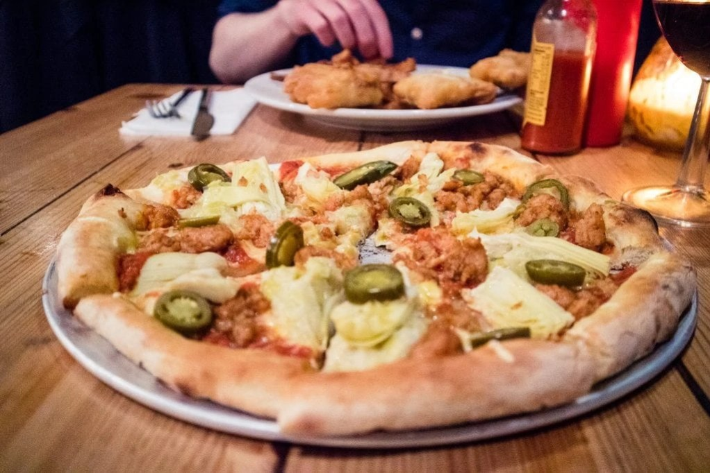 Vegan Pizza from Mono in Glasgow