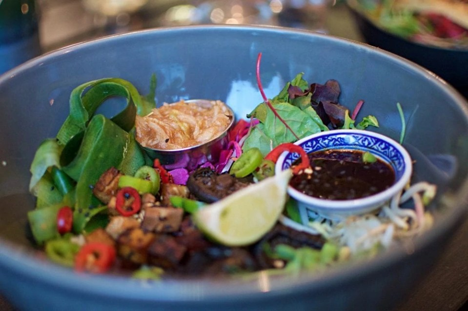 vegan Asian food at sajvva in Malmo