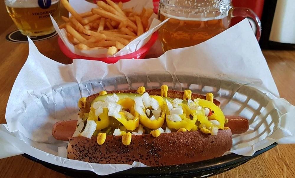 Mr Hotdog Vegan Hotdog in Prague