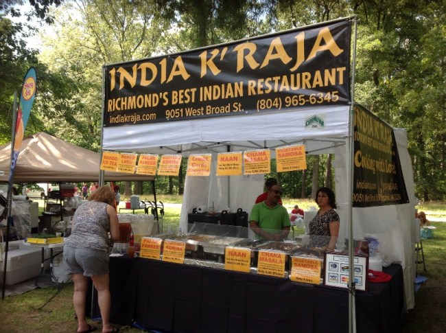 Vendors at Richmond Vegetarian Festival: India K'Raja