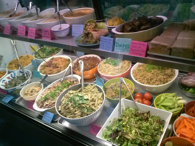 Desert Roots Kitchen Deli Case With Fresh, Organically Grown Ingredients