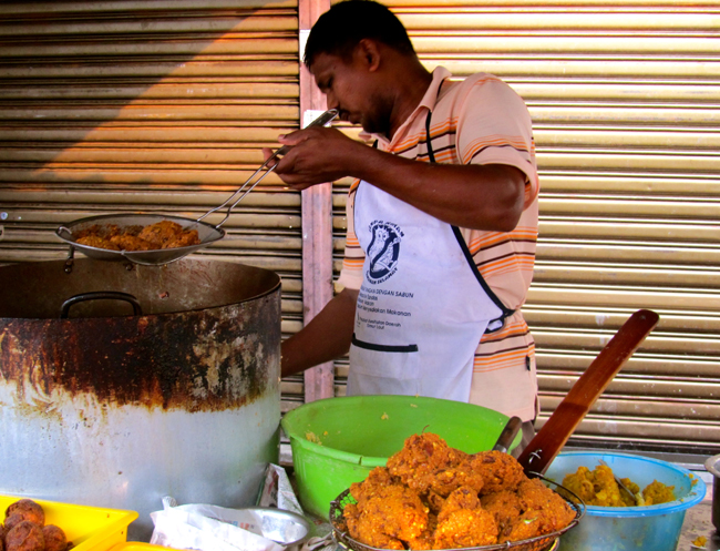 Street Vendor Making Vadai