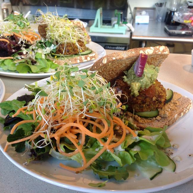 Luna's Fire & Brimstone Veggie Burger