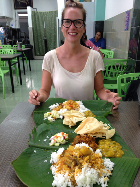 Eating A Banana Leaf Curry