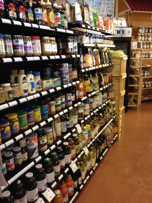 Nut butters, sweeteners, condiments, juices - Lots of items to choose from.