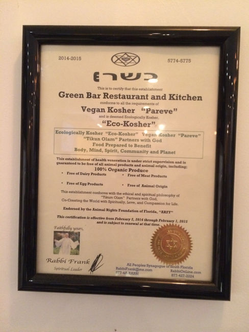 GB&K  Certified Kosher