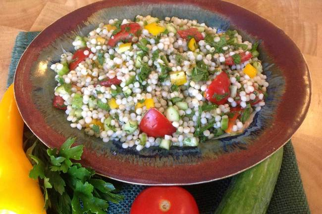 Toasted Israeli Couscous Salad With Fresh Herbs