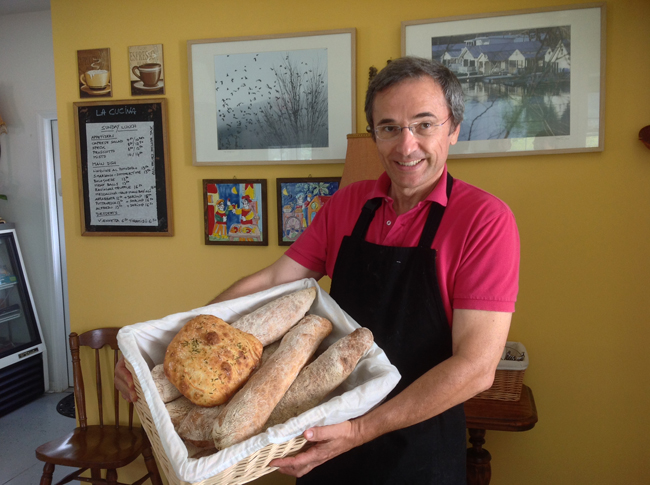 Matteo with amazing house-made artisan breads