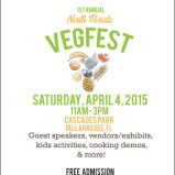 Tallahassee Florida Celebrates First Annual North Florida VegFest April 4th In Cascade Park Downtown Tallahassee!