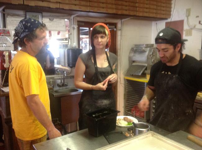 Kevin (pronounced Kee-van)Tolley, Becka and Fran (Francisco) Borquez