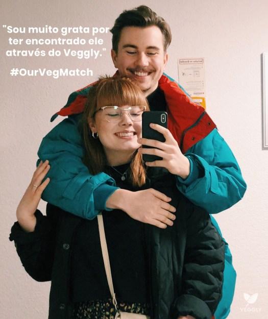 casal se conhece pelo Veggly