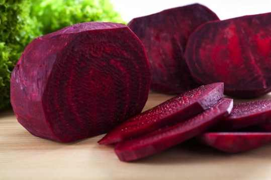 Fresh sliced beets